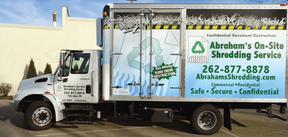 Abrahams Shredding Truck